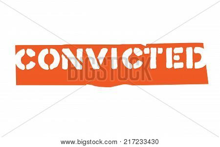 Convicted. Typographic stamp visualisation concept Original series.
