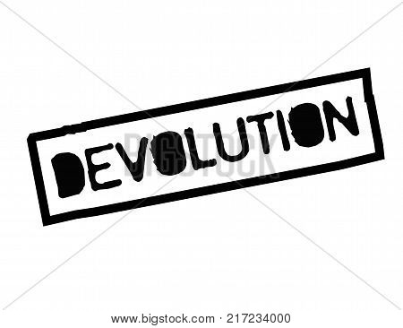 Devolution. Typographic stamp visualisation concept Original series.