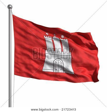 Flag Of Hamburg