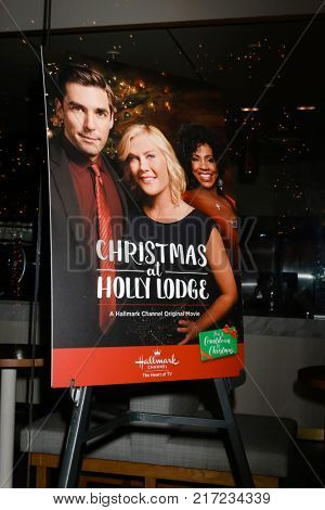 LOS ANGELES - DEC 4:  Christmas at Hidden Lodge Poster at the Christmas At Holly Lodge Screening at 189 The Grove Drive on December 4, 2017 in Los Angeles, CA