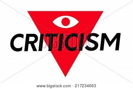 Criticism. Typographic stamp visualisation concept Original series.