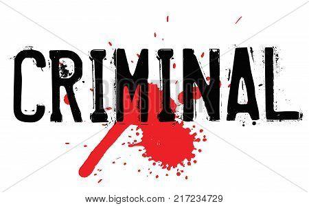 Criminal. Typographic stamp visualisation concept Original series.
