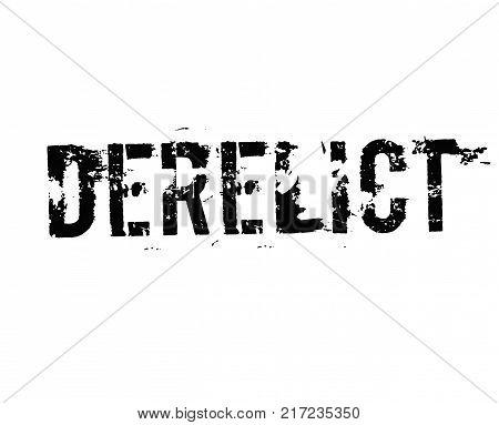 Derelict. Typographic stamp visualisation concept Original series.