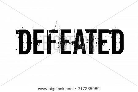 Defeated. Typographic stamp visualisation concept Original series.