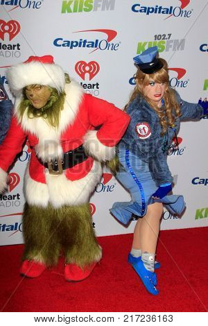 LOS ANGELES - DEC 2:  Grinchmas Characters at the Jingle Ball 2017 at the Forum on December 2, 2017 in Inglewood, CA