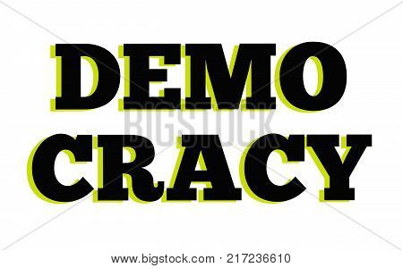 Democracy. Typographic stamp visualisation concept Original series.