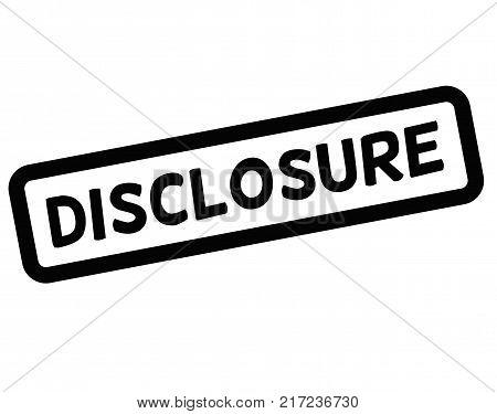 Disclosure. Typographic stamp visualisation concept Original series.