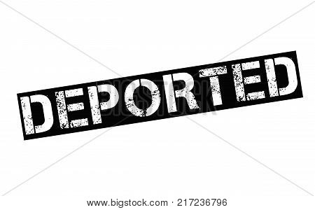 Deported. Typographic stamp visualisation concept Original series.