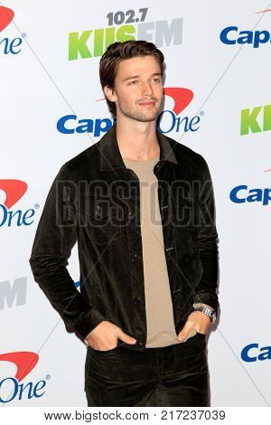 LOS ANGELES - DEC 2:  Patrick Schwarzenegger at the Jingle Ball 2017 at the Forum on December 2, 2017 in Inglewood, CA