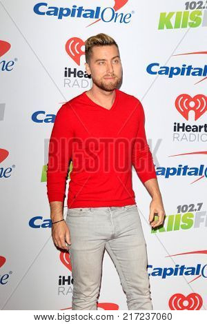 LOS ANGELES - DEC 2:  Lance Bass at the Jingle Ball 2017 at the Forum on December 2, 2017 in Inglewood, CA
