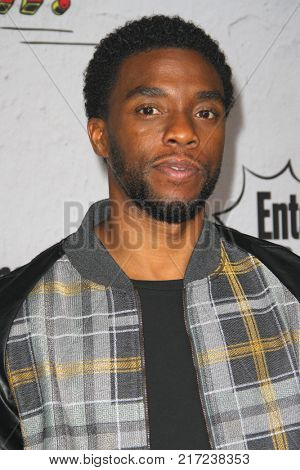 SAN DIEGO - July 22:  Chadwick Boseman at the Entertainment Weekly's Annual Comic-Con Party 2017 at the Float at Hard Rock Hotel San Diego on July 22, 2017 in San Diego, CA
