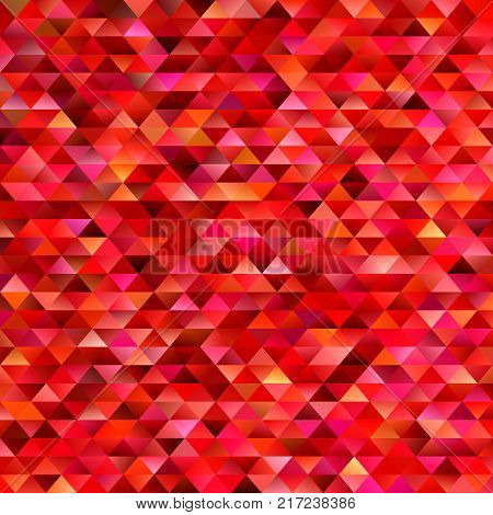 Red geometrical abstract triangle mosaic background - gradient vector mosaic graphic design
