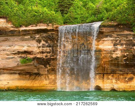 Pictured Rocks National Lakeshore in upper Michigan