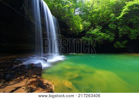 Upper Caney Creek Falls in the William B Bankhead National Forest of Alabama