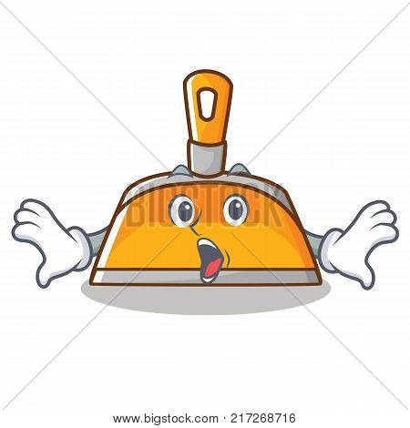 Surprised dustpan character cartoon style vector illustration