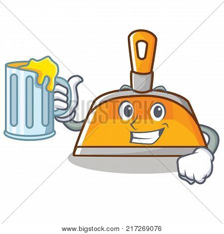 With juice dustpan character cartoon style vector illustration