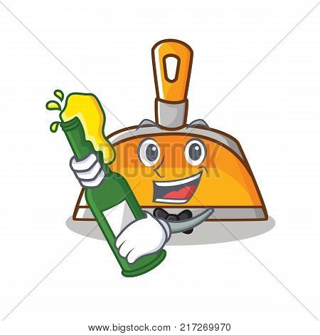 With beer dustpan character cartoon style vector illustration