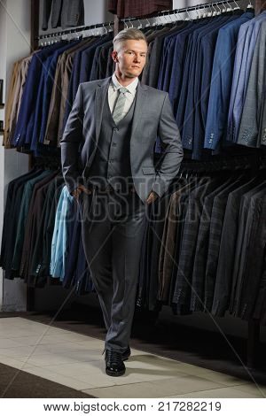 Perfect to the last detail. Modern businessman. Fashion shot of a handsome man in elegant classic suit. Men's beauty, fashion.