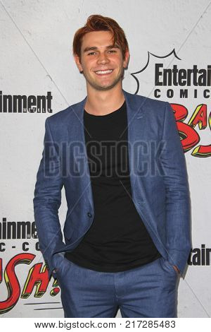 SAN DIEGO - July 22:  K.J. Apa at the Entertainment Weekly's Annual Comic-Con Party 2017 at the Float at Hard Rock Hotel San Diego on July 22, 2017 in San Diego, CA