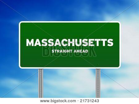 Sinal de estrada de Massachusetts