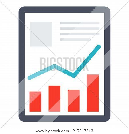 Tablet icon. Flat illustration of tablet vector icon for web