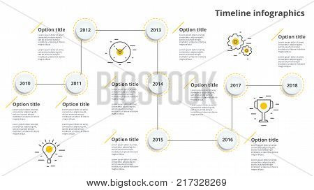 Business Hierarchy Organogram Chart Infographics. Corporate Organizational Structure Graphic Element