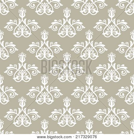 Orient vector classic light pattern. Seamless abstract background with vintage elements. Orient background