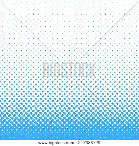 Abstract halftone ellipse pattern background - vector graphic design with light blue diagonal elliptical dots in varying sizes on white background