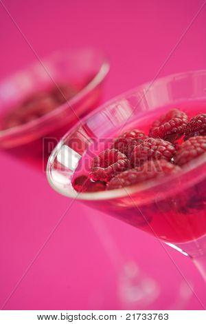 Raspberry Cosmopolitan Cocktails With Fresh Raspberries