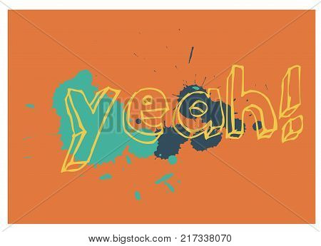 Yeah typographic poster for children, various colours.