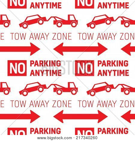 Parking restriction road sign pattern, realistic looking design for print and media.