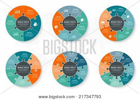 Infographic timeline circle template can be used for chart, diagram, web design, presentation, advertising, history. Vector infographic illustration