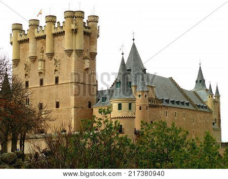 The Alcazar of Segovia, UNESCO World Heritage Site in Segovia of Spain