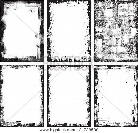 Collection Of High Detail Grunge Frames And Elements