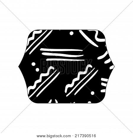 contour line quadrate with abstract style memphis background vector illustration