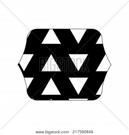 contour line quadrate with graphic geometric style background vector illustration