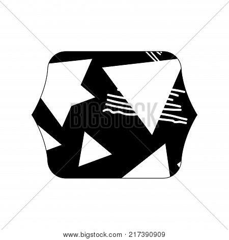 contour line quadrate with geometric figure stye background vector illustration