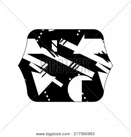contour line quadrate with geometric abstract style background vector illustration