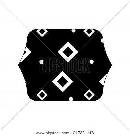 contour line quadrate with memphis style abstract background vector illustration