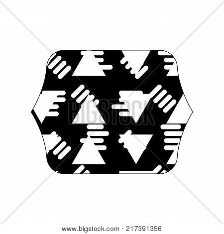 contour line quadrate with abstract graphic design background vector illustration