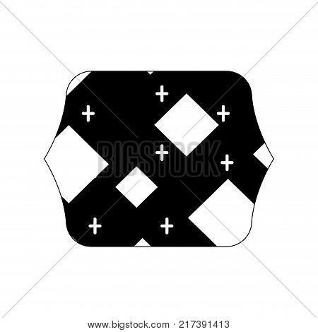 contour line quadrate with memphis geometric abstract background vector illustration
