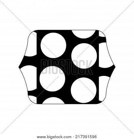 contour line quadrate with memphis geometric figure background vector illustration
