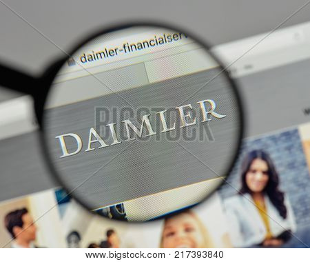 Milan, Italy - August 10, 2017: Daimler, Financial, Services. Logo On The Website Homepage.