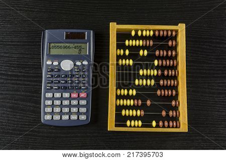 Abacus account calculator or devices supporting calculations.