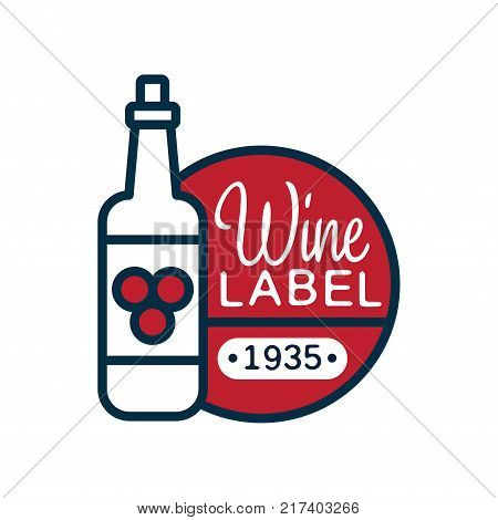 Wine label 1935, natural top quality product vintage logo, design element for menu, winery logo package, winery branding and identity vector Illustration isolated on a white background