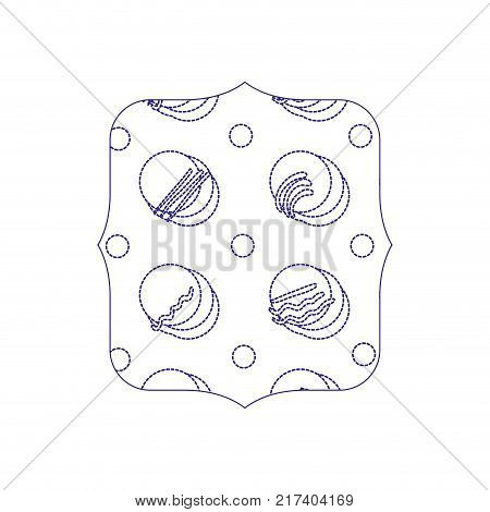 dotted shape quadrate with geometric memphis style background vector illustration