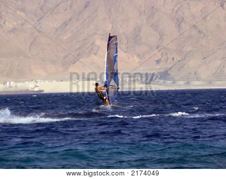 Photo Of The Windsurfer In Red Sea