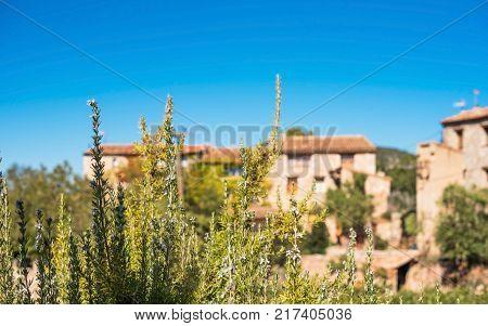 View Of The Romanesque Church Of Santa Maria De Siurana In Siurana Tarragona Catalunya Spain. Copy S