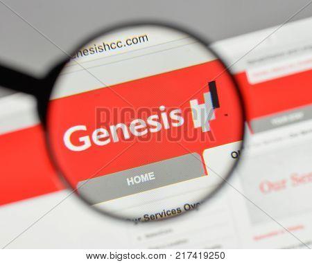 Milan, Italy - August 10, 2017: Genesis Healthcare Logo On The Website Homepage.