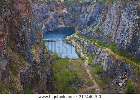 The Big America - Velka Amerika is dolomite quarry for cement production. Czech Republic, Europe.